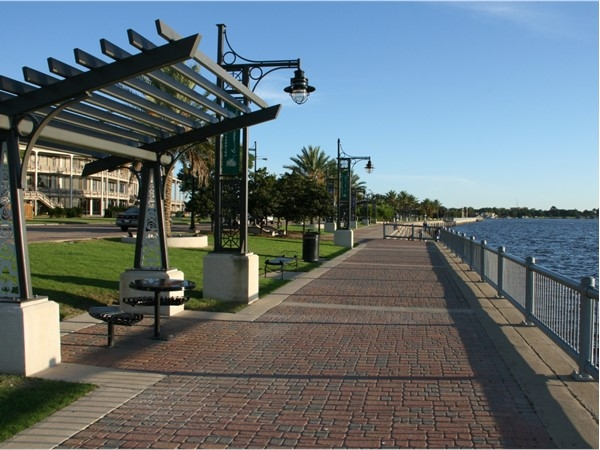 Beautiful place to walk along the Seawall at Bord du Lac Parc in downtown Lake Charles