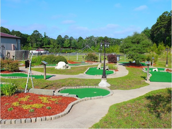The Excalibur Family Entertainment Center features a medieval-themed miniature golf course