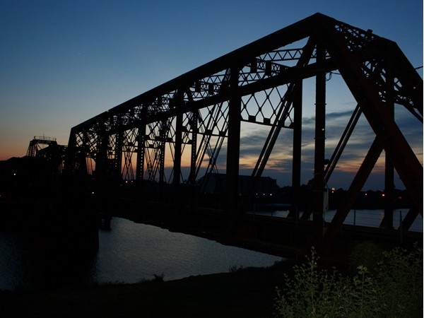 The twin cities of Monroe and West Monroe are joined by the this railroad bridge built in 1883