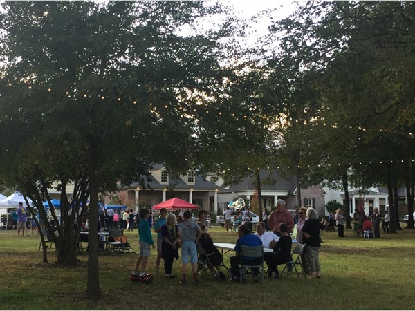 Locals enjoy the Farmer's Market at Provenance