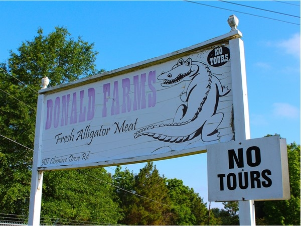 Donald Farms in West Monroe is a wholesale alligator farm that is well known in the area