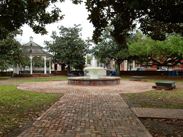 Magdalen Square in downtown Abbeville