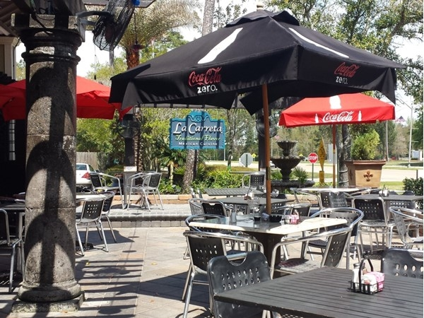 La Carreta in Mandeville.  Beautiful day for dining on the patio