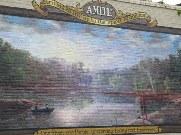 A wonderful mural as you enter downtown of Amite City