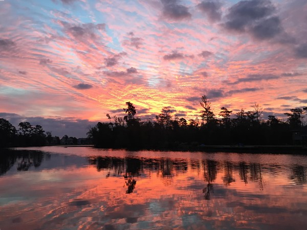 Sunrises on the west fork of the Calcasieu River are breathtaking