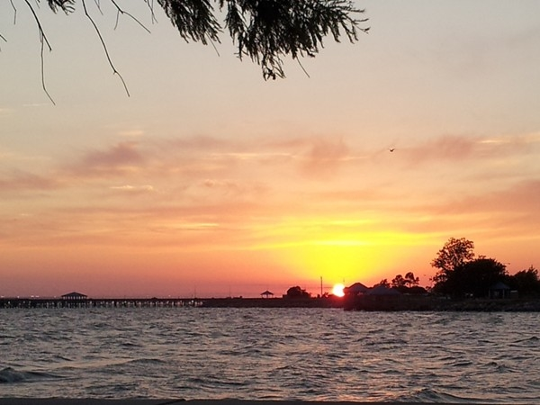 Northshore sunset on Lake Pontchartrain in Old Mandeville