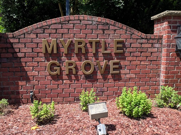 Welcome to Myrtle Grove Subdivision