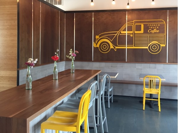 French Truck Coffee's new location in Uptown. Their coffee will perk you up in the morning