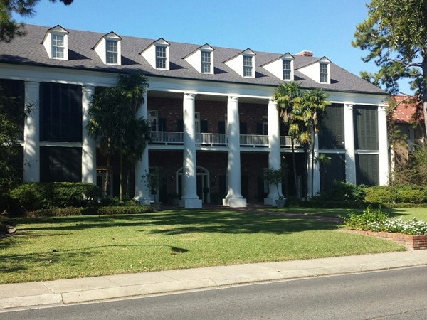 Chi Omega sorority house on the LSU campus