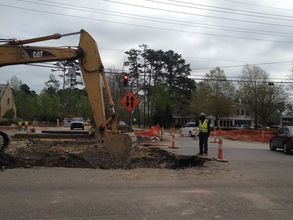 Work continues on the $11.3 million capacity improvement project  near Meadowbrook.