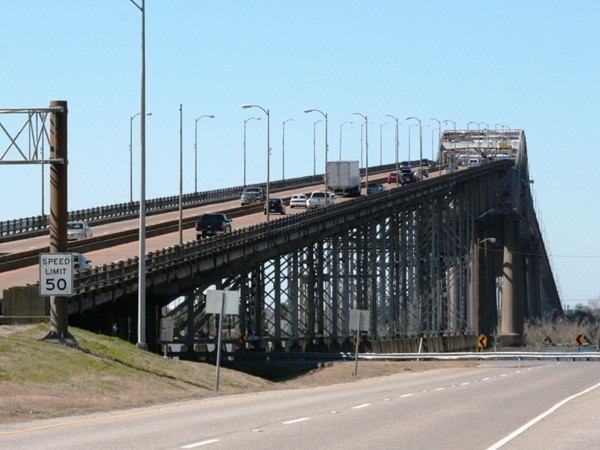 The I-10 Calcasieu River Bridge was opened in the early 1950s and is over two miles long