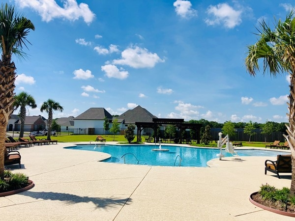 Luxury community pool in the Woodlands of Acadiana