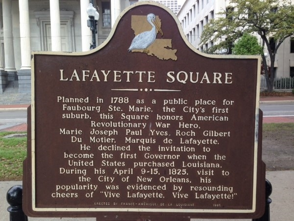 Lafayette Square Park in Downtown New Orleans