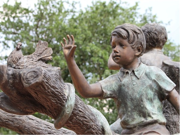 The Children's Memorial sculpture at St. Paul's United Methodist Church in Monroe is gorgeous