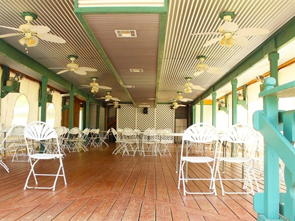 The D'Arbonne Lady K steamboat pavilion at Edgewood Plantation is ideal for events up to 150 people